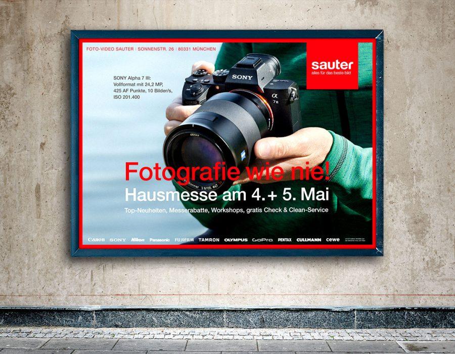 Foto-Video Sauter // Werbekampagne Hausmesse Mai 2018